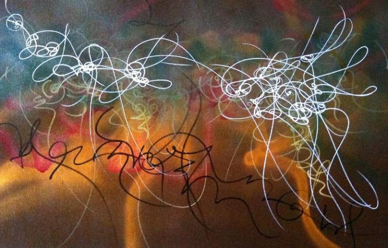 asemic calligraphy, graffiti