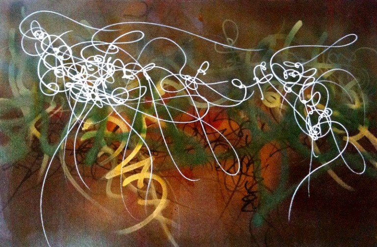 asemic writing, abstract calligraphy
