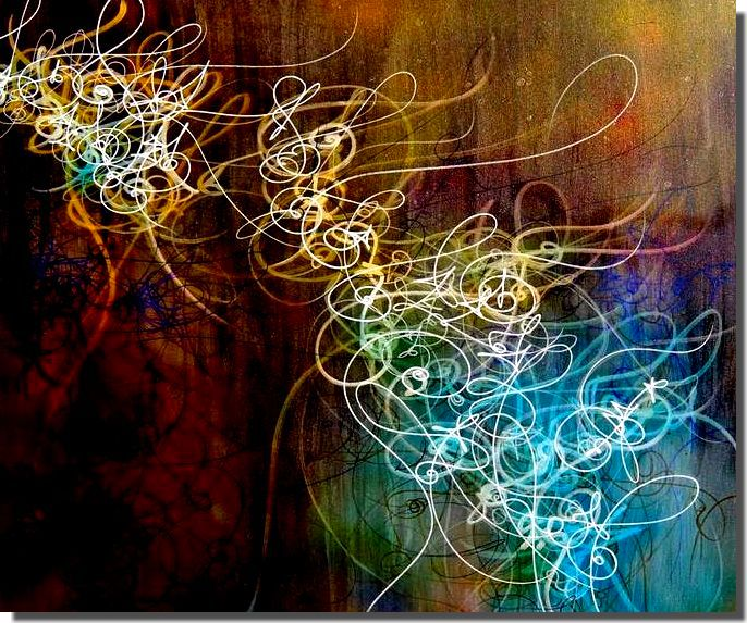 Modern Art Line Painting : Abstaction lyrique lyrical abstraction lines by matox